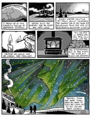 Northern lights comic by Elizabeth Jancewicz