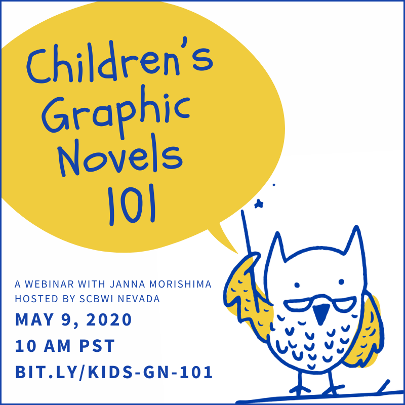 Children's GN 101 with Janna Morishima webinar hosted by SCBWI Nevada May 2020