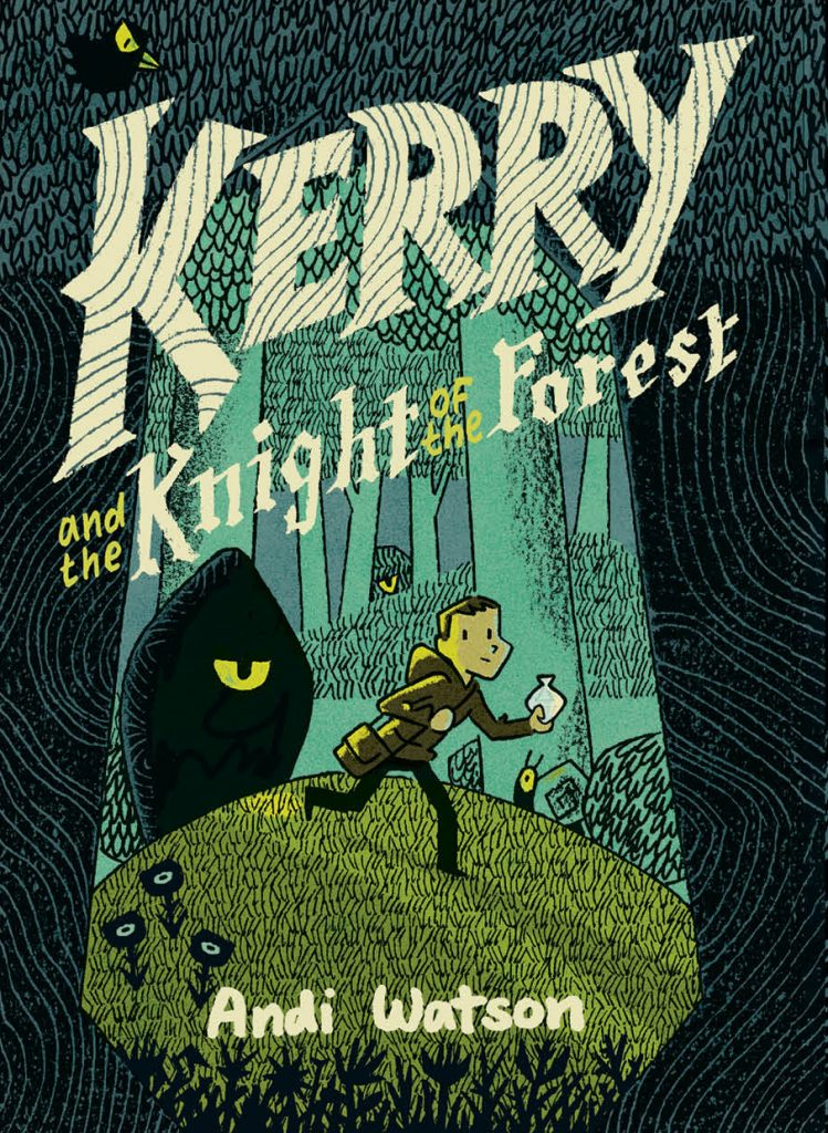 Fantasy adventure graphic novel for kids Kerry and the Knight of the Forest by Andi Watson