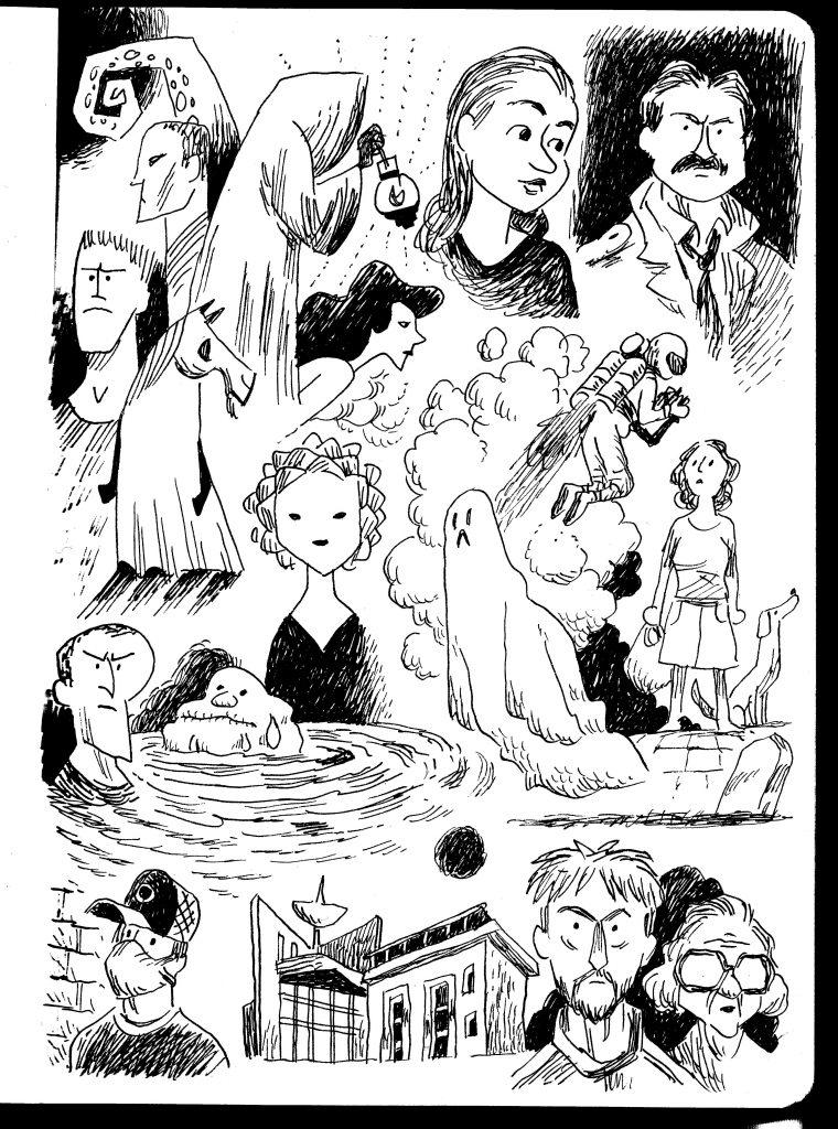 Interior black and white fantasy comics page by indie comics creator Andi Watson