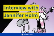 An interview with Jennifer Holm, author of Baby Mouse, Squish, and Sunny Side Up, for Kids Comics Unite